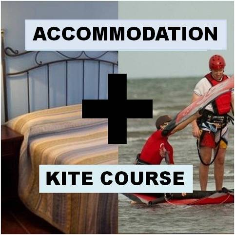 pack kite course plus accommodation lanzarote